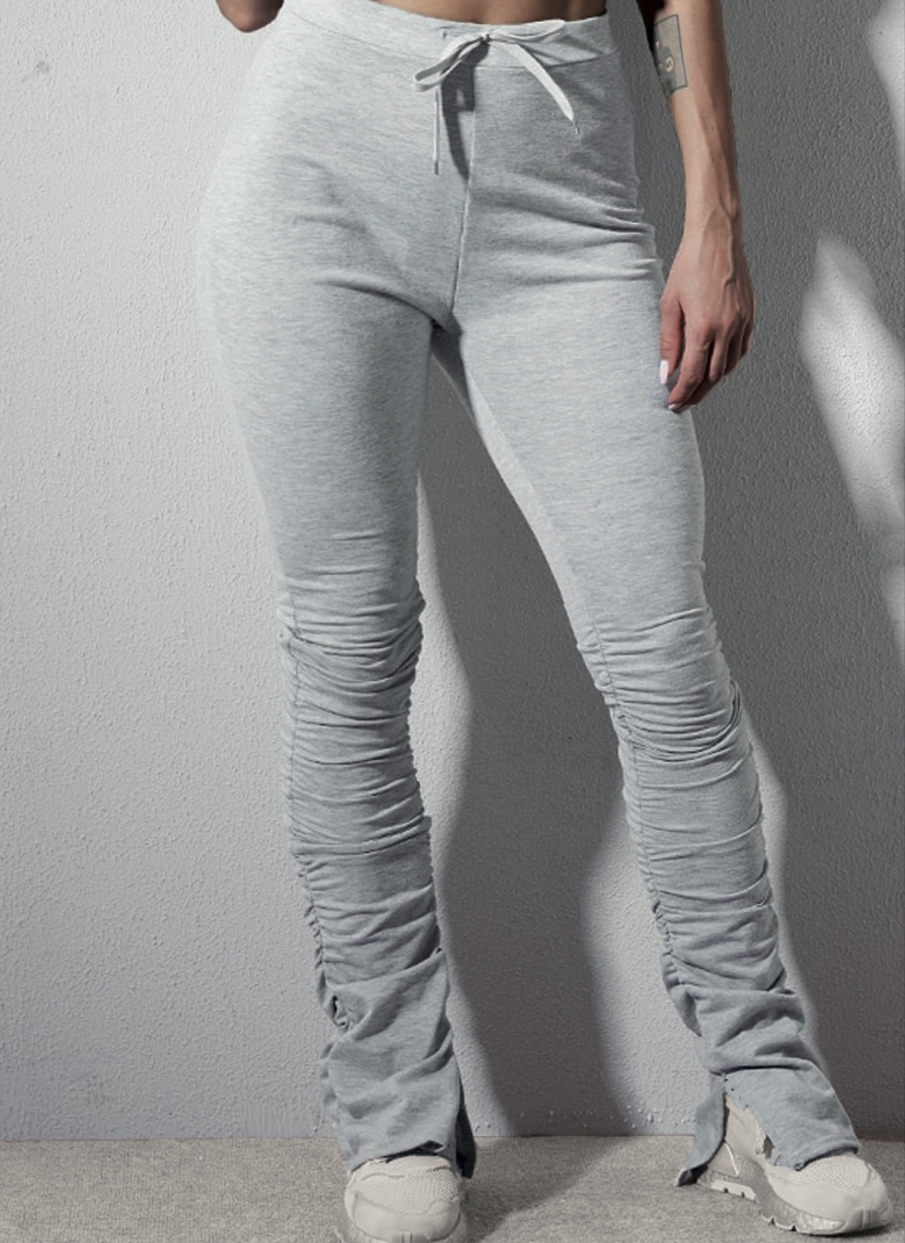 Maia Split Pants Grey