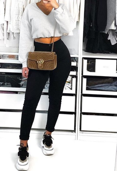 Mabel Crop Sweater White