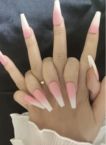 Pink Ombre Press ON nails