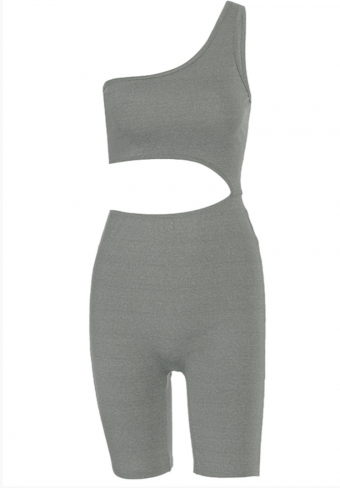Hazel Playsuit Grey