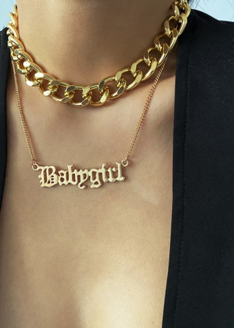 Babygirl Necklace Gold