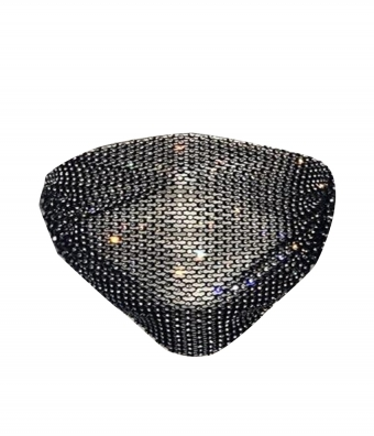 Diamond Face Mask  Black