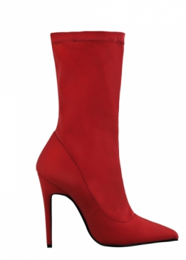 Kay Sock Boots Red