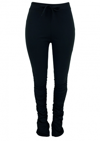 Maia Split Pants Black