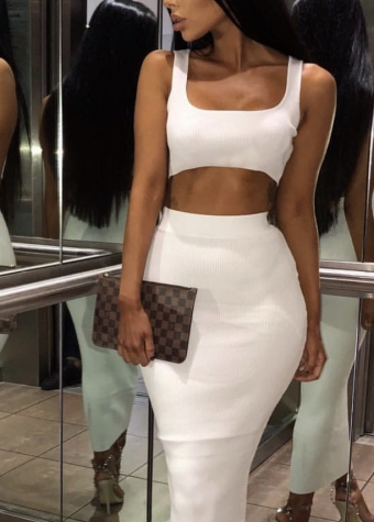 Maxine Two Piece Set White