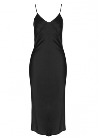 Rachelle Split Dress Black