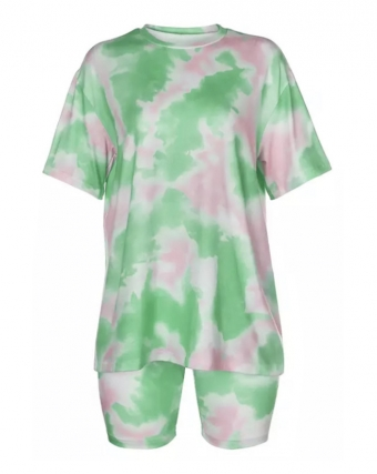 Traci Dye Two Piece GreenPink