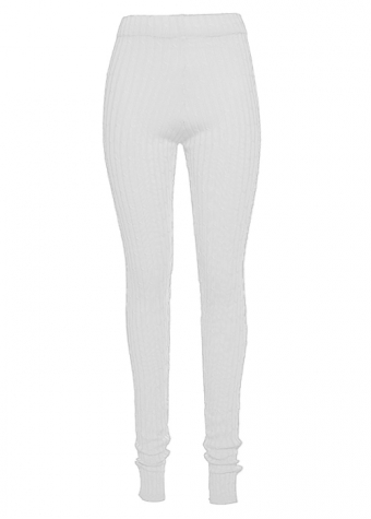 Yasmine Split Legging White
